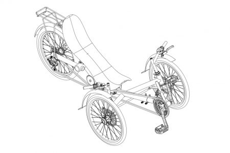 Recumbent Trike Comfort full suspension - Specbike Technics