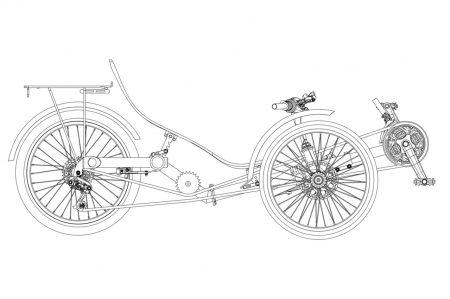 Klappbares Dreirad STANDART ohne Federung | Specbike Technics