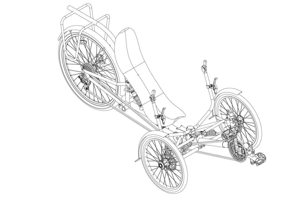 Dreirad Comfort mit Fahrwerk | Specbike Technics