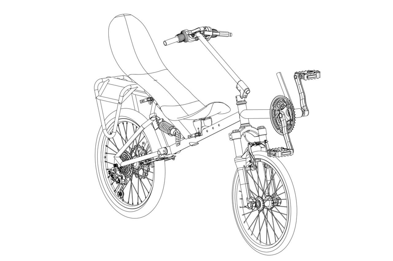 2-х колесный лежачий велосипед-MINI | Specbike Technics