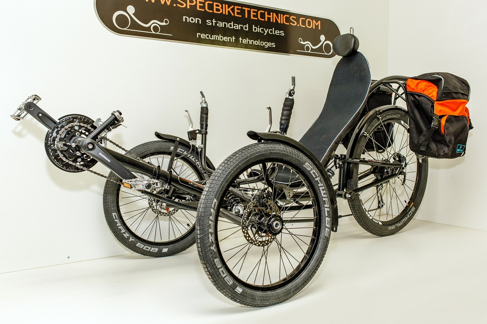 Recumbent Trike Comfort full suspension