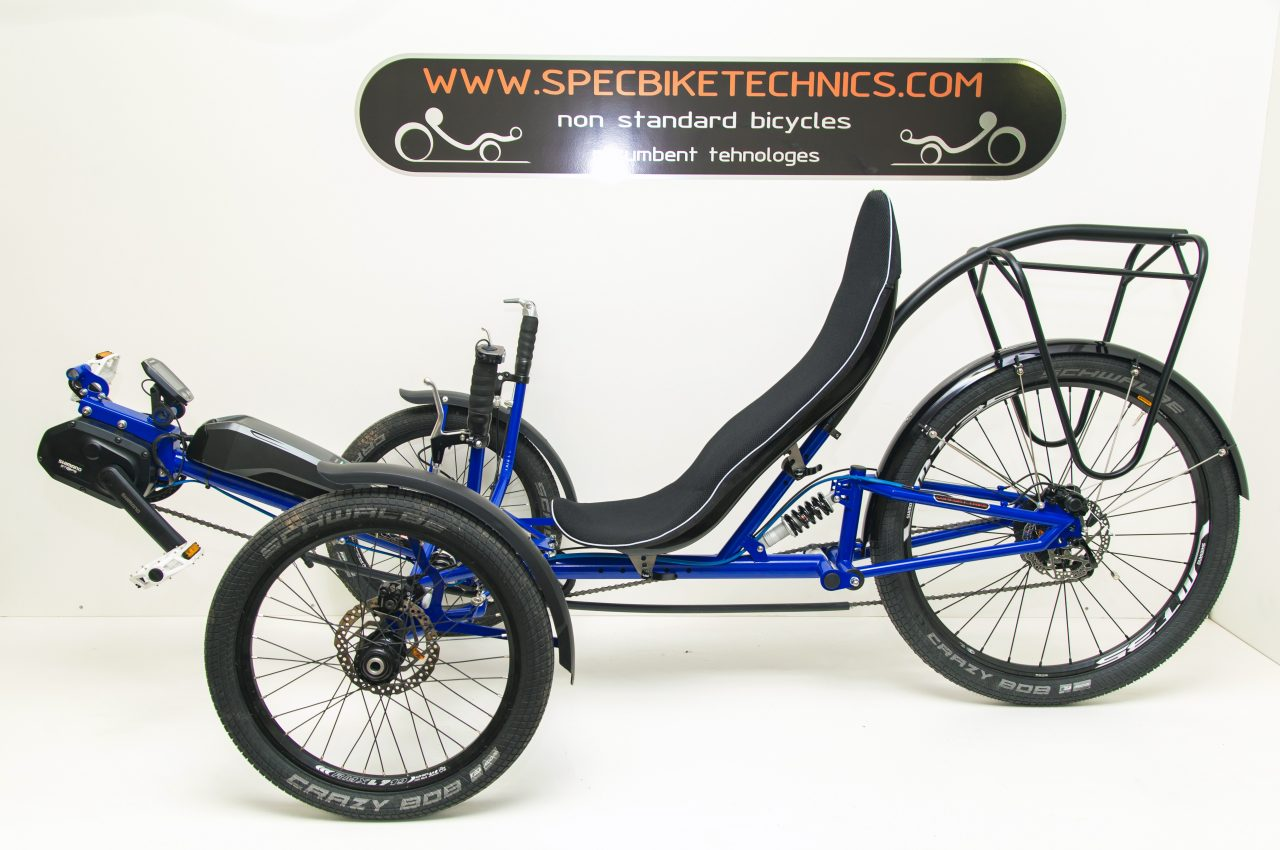 electric assist recumbent trike